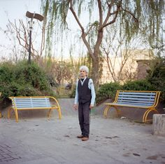 Men across the country and from a broad range of backgrounds posed for Irish photographer Owen McCann who was traveling in Iran
