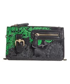 Look at this Desigual Black & Green Clutch on #zulily today!