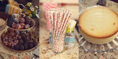 Juniors cheese cake. Flowered paper straws. Wedding dessert bar. Vintage rustic country chic barn wedding with a NYC twist. Tim & Amy {Wedding Photos} Hampton Bays, NY » Lukas & Suzy International Wedding Photographers