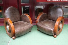 "Rare art deco "" Bentley"" suite in mahogany - circa 1930 reception suite from a former Bentley Cars show-room in England"