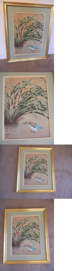 Other Needle Arts and Crafts 71184: Framed Elsa Williams Crewel Little Bird W River Orchids Ohno Bakufu 19X15 Rare -> BUY IT NOW ONLY: $99.99 on eBay!