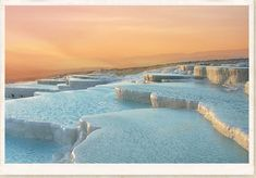 THE TRAVERTINE POOLS OF PAMUKKALE                          1. PAMUKKALE - TURKEY     The strange and weirdly beautiful terraced pools of Pamukkale have been appreciated for over two millennia and yet still remain a little known wonder of the world.  Pamukkale is now a UNESCO World Heritage Site and the pools have been closed to the tourists that once bathed in their waters to save them from further damage.