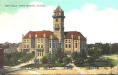 Uncovered Texas....Old Fort Worth, Texas Postcards, 1908