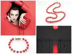 Bracciale e Collana in corallo rosso vermiglio, linea barilotti. Fantastici!! #Orodisciacca #GioielliCorallo