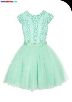 Vestidos de fiesta para ninas color verde agua