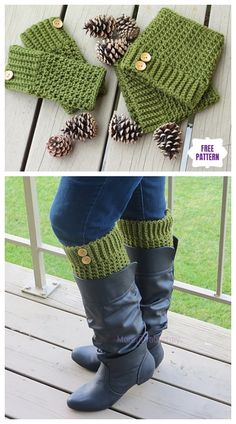 boot cuffs Looking for the perfect boot cuff crochet pattern? From easy to Tunisian, reversible to scallops and lace we've got plenty to choose from! Crochet Boot Cuff Pattern, Shoe Pattern, Crochet Woman, Diy Crochet, Crochet House, Crochet Ideas, Knitting Patterns, Crochet Patterns, Hat Patterns