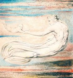 William Blake, 'Plate 2 of 'Urizen': 'Teach these Souls to Fly'' releif etching,ink and watercolour on paper. William Blake Art, English Poets, Ciel, Great Artists, Printmaking, Mythology, Contemporary Art, Illustration Art, Illustrations