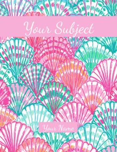 A super easy method for making your very own Lilly Pulitzer binder covers and sides!