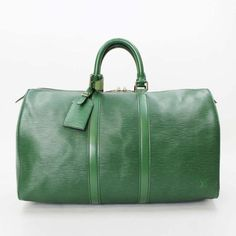 Louis Vuitton Keepall 45 Epi Luggage Green Leather M42974