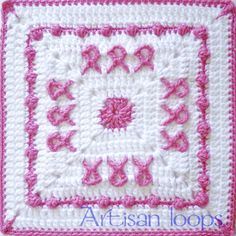 Ravelry: Awareness Square by Artisan loops