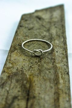 Sterling Knot Ring  Love Knot Ring  Twisted Silver by luxebuffalo