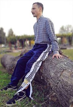 90s+Vintage+rare+Adidas+adibreak+buttons+jogger+pants