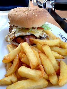 Bacon egg cheeseburger
