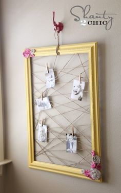 creative way to display your favorite photos.