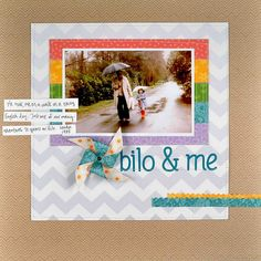 Simple scrapbook page - sweet from lawnfawn.blogspot.com