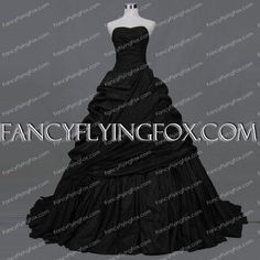 fancyflyingfox.com Offers High Quality Sweetheart Taffeta Black Wedding Dress Vintage,Priced At Only US$216.00 (Free Shipping) 2016 Wedding Dresses, Chapel Train, Dress Vintage, Body Shapes, Ball Gowns, Wedding Venues, Glamour, Free Shipping, Bridal