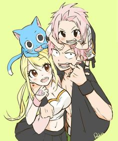NaLu and Nashi and Happy Natsu Fairy Tail, Fairy Tail Ships, Fairy Tail Meme, Fairy Tale Anime, Fairy Tail Comics, Fairy Tail Lucy, Fairy Tail Girls, Fairy Tail Manga, Fairy Tail Family