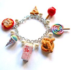 ON SALE today only, was $95, now $76  This gorgeous charm bracelet is one of my favorite pieces in my Fall Carnival Collection. Each charm is
