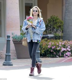 Low-key: Paris Jackson looked every inch the bohemian doll during her shopping trip to Ral...