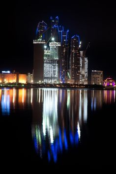 taken from the Heritage Village looking back to the corniche & the new ADNOC building being built