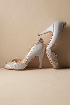 Isabella Scalloped Heels from @BHLDN