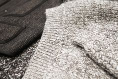 SALT AND PEPPER> melange fisherman knits and Brown's Beach Cloth