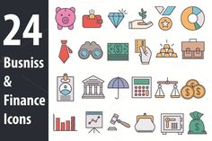 Busniss and Finance Icons by Iconika on @creativemarket
