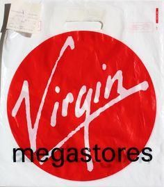 Virgin Megastores - Nottingham Vinyl Store, Virgin Atlantic, Vinyl Records, Neon Signs, Nottingham, Heaven, Shops, Chain, Bags