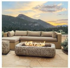 Propane Fire Table Outdoor Patio Backyard Heater Deck Fire Pit Furniture Product Description: This stunning propane fire table design will add a unique look to any outdoor setting! Replicated from authentic hand chiseled limestone then cast in a high performance, light weight concrete for a substantial look at a fraction of the weight. Finished for outdoor durability, this fire pit comes complete with lava rock filler and a weatherproof cover for when not in use. The Antique Stone collection…