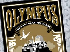 The Olympus Playing Cards are inspired by the Greek Gods and Goddesses. Printed by Legends Playing Card Company.