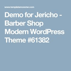 Demo for Jericho - Barber Shop Modern WordPress Theme #61382