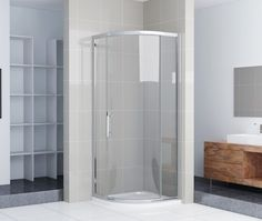 how to install quadrant shower doors