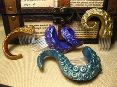 Small Cthulhu Tentacle Hair Piece by PoisonInc on Etsy