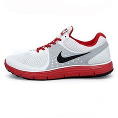 Nike Lunarswift +4 Mens 510787-100 White Red Athletic Running Shoes Size 7.5