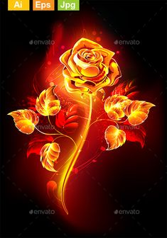 Buy Fire Rose by on GraphicRiver. Blooming rose with long stem and leaves from hot flame on black background. Black And Blue Wallpaper, Blue Roses Wallpaper, Butterfly Wallpaper, Heart Wallpaper, Galaxy Wallpaper, Wallpaper Backgrounds, Beautiful Flowers Wallpapers, Beautiful Nature Wallpaper, Beautiful Roses
