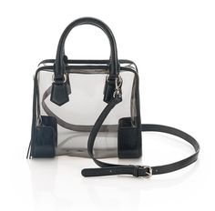 clear bowler bag! I would fill it with lots of cute zipper pouches and such