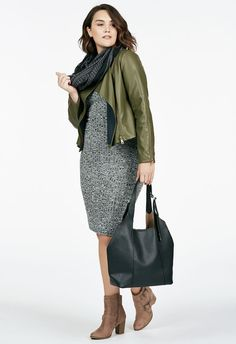 The perfect dress for any occasion. It featured a mock neck, ribbed knit construction, and knee-length hem....
