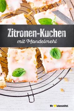 Almond meal and lemon Mandelmehl-Zitronen-Kuchen Juicy, citrusy, fresh: with our almond flour-lemon cake you uncover a summery coffee table cake free bake - Almond Recipes, Baking Recipes, Cake Recipes, Dessert Recipes, Berry Smoothie Recipe, Easy Smoothie Recipes, Almond Meal Cookies, Homemade Frappuccino, Healthy Snacks