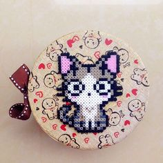 Chi's cat hama beads by  chittyqy