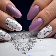 Great gallery of unique nail art designs of 2017 for any season and reason. The best images and creative ideas for your nails. Any color gamma. Fancy Nails, Trendy Nails, Cute Nails, Purple Manicure, Gel Manicure, Bridal Nail Art, Floral Nail Art, Prom Nails, Wedding Nails