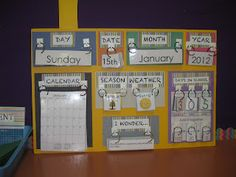 I love this calendar layout, although I'll modify it for my classroom needs. :)