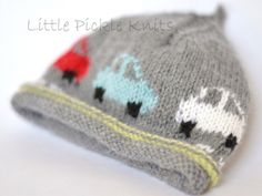 Little Cars Beanie by Linda Whaley - Digital Version | Independent Designer Knitting Patterns | Knitting Patterns | Deramores