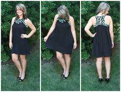 Black & Teal Bubble Dress