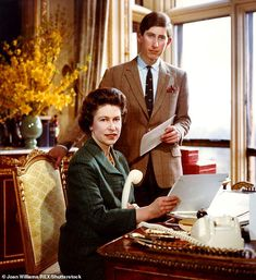 Adrian claims Queen Victoria 'meticulously organised' everything in order to micro-manage the Royal Family's contact with the public (Pictured:Queen Elizabeth II and Prince Charles)