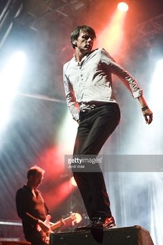 Brett Anderson of Suede performs on stage on Day 1 of Cruilla Barcelona Festival 2013 at Parc Del Forum on July 5, 2013 in Barcelona, Spain.