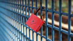 Cadeado, Governo Federal, Amor, Vermelho, Cerca