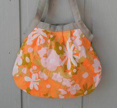 vintage orange flowers bag by picklehead on Etsy, $25.00