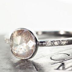 1.5 carat natural white diamond ring. chincharmaloney.com
