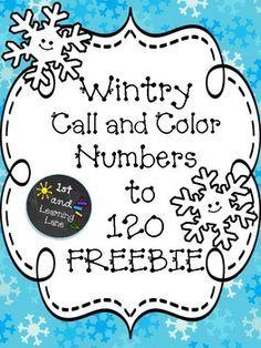 Winter Numbers to 120 FREEBIE