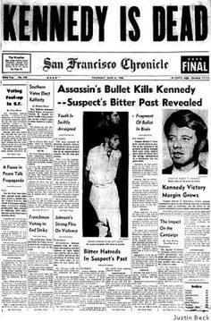June 6, 1968 Senator Robert Kennedy is dead after being shot the day before in a Los Angeles hotel. Kennedy had been the Democratic party's likely candidate for president as late returns in the California primary were pointing toward victory. The man who assassinated him, Sirhan Sirhan, was convicted of murder the following year and given the death penalty. His sentence was later commuted to life in prison. Photo: Justin Beck / SF